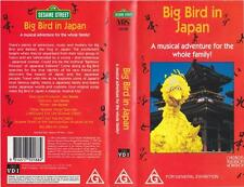 BIG BIRD IN JAPAN SESAME STREET  VHS VIDEO PAL~ A RARE FIND~