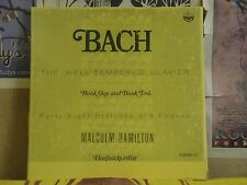 BACH WELL TEMPERED CLAVIER BOOK 1 & 2, MALCOLM HAMILTON - 6 LP 6134/6