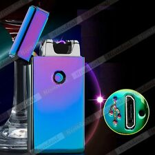 Electric Rechargeable Lighter Arc Flameless USB Cigarette Windproof Lighter IRTA