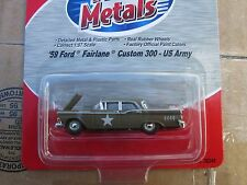 1959 FORD BUILT 1/87 scale-HO-mini metals CMW  FORD CUSTOMLINE 500 green us army