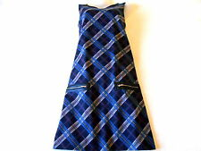 Brand New Esmara Ladies Navy Blue Checked Jersey Dress Size 10 UK/ 38 EUR