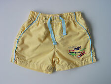 BOYS BEACH SHORTS AGE 3-6 MONTHS YELLOW £2.49