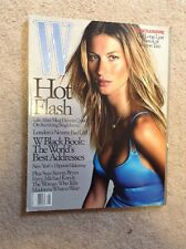 MAGAZINE ~ W August 2001 - BLAST FROM THE PAST (Sharon Tate) - Rare
