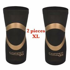 2PACK- Copper Fit PRO Series Performance Compression Knee Sleeve Brace - XLarge
