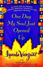ONE DAY MY SOUL JUST OPENED UP by Iyanla Vanzant FREE SHIPPING hardcover book