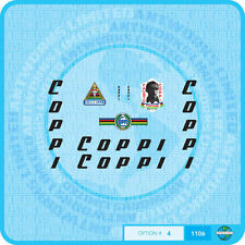Fausto Coppi Bicycle Decals Transfers Stickers - Set 4
