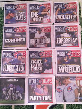 2016 Cubs World Series COMPLETE SET of 12 Chicago Sun Times Newspapers RARE!