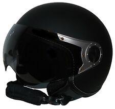 Jethelm mit Visier H710 schwarz matt einfarbig Motorradhelm Gr. L, NEU