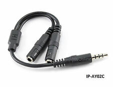 """6"""" CablesOnline 3.5mm TRRS Male to 2x TRS 3.5mm Female Headset Splitter Adapter"""