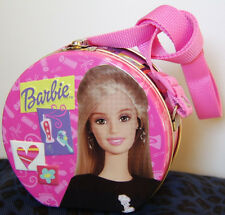 Mattel / Barbie Collectible 2004 Storage Tin Lunch Box / Shoulder Strap - Sweet