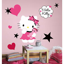 "COUTURE HELLO KITTY wall sticker MURAL 13 decal party decoration 20"" tall Sanrio"