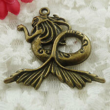 Free Ship 16 pieces bronze plated mermaid pendant 44x41mm #579