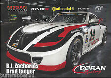 2013 BJ ZACHARIAS & BRAD JAEGER #14 DORAN RACING GRAND AM ROLEX SERIES POSTCARD