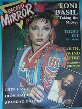 RECORD MIRROR - 13/3/82 - TONI BASIL - GARY NUMAN - EARTH, WIND & FIRE