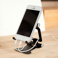 Foldable Cell Phone Desk Stand Holder Car Mount For Tablet Samsung iPhone Black