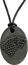 NEW Game of Thrones Stark Sigil Pendant on Leather Thong - Official Licensed HBO