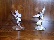 Glass Baron Angel with Flowers and Hummingbird