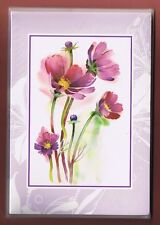 FLOWERS NOTE CARDS & ENVELOPES NEW IN PACKAGE OF 5 COLLECTIBLE ***