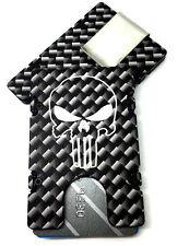 Punisher, Carbon Fiber Pattern, Billet Aluminum Wallet, RFID protection, Black