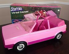 Vintage RARE 1981 Barbie Pink VW Golf Cabriolet Car with Roof * In Box! Unused!