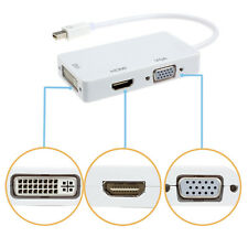 Para MacBook iMac 3 in1 Displayport Thunderbolg VGA HDMI Adaptador en DVI