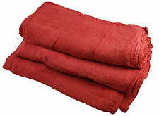 800 PCS RED COTTON SHOP TOWEL RAGS  **INDUSTRIAL GRADE** NEW WIPERS
