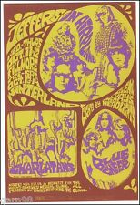 Jefferson Airplane Charlatans Blue Cheer  BG Fillmore Concert Handbill 1967