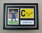 Gianfranco Zola Signed A4 Photo Framed Captain Armband Chelsea Autograph Display