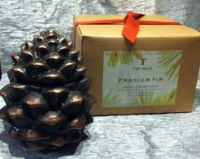 Thymes Frasier Fir Aromatic Pinecone Candle 4.25 oz. NEW siberian fir cedarwood