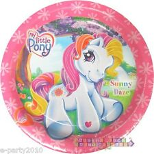 MY LITTLE PONY SUNNY DAZE SMALL PAPER PLATES (8) ~ Birthday Party Supplies Cake