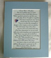 LOVE 1 ANOTHER Husband WEDDING Wife ANNIVERSARY Rings VOWS verses poems plaques