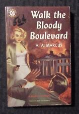 1951 WALK THE BLOODY BOULEVARD by Marcus 1st Graphic Mystery Paperback VG+