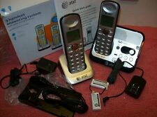 AT&T 2 Handset Digital Cordless Phone, Answering System, Caller ID Telephone,New