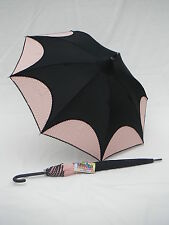 Shelta Ladies Rain Sun Umbrella Parasol - 1801 Black Spot/Pink Fashion Pagoda