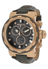 New Men's Invicta 11234 Reserve Swiss Chronograph Grey Dial Grey Leather Watch