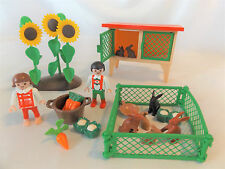 PLAYMOBIL Victorian Rabbit Hutch 3075, Sunflowers, Kids, Doll House Yard, incomp