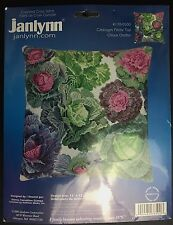 "NIP Janlynn Counted Cross Stitch Cabbages Pillow Top Design 1780500 Size 12""X12"""