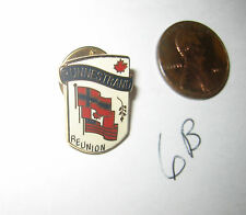 RARE VINTAGE RUNNESRAND REUNION PIN BADGE CANADA U.S. NORWAY FLAGS