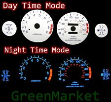 95-99 Eclipse Turbo 2.0 WHITE FACE BLUE INDIGLO GLOW GAUGES
