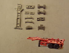 P&D Marsh N Gauge N Scale MV221 20ft Skeletal trailer (3) kit requires painting
