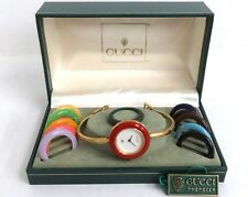 VTG 100% Authentic GUCCI Quartz Ladies Bangle Watch 11/12 with 12 Bezels Box