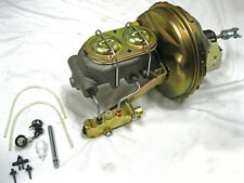 "1964-72 Chevy GM A-Body 9"" Power Brake Booster + Master & Bleeders Disc Drum Kit"