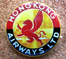 1960s Hong Kong Airways  Design Button Pin Back Modernist Mid-Century Deco #33