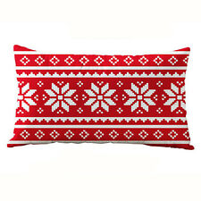 Christmas Rectangle Cotton Linter Pillow Cases Cushion Covers