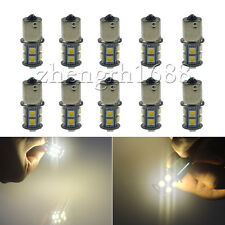10x Warm White 1156 ba15s LED  13SMD 12V RV Camper Trailer 1141 Interior Bulbs