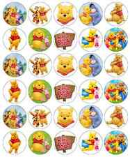 30 x Winnie The Pooh Cupcake Toppers Edible Wafer Paper Fairy Cake Toppers