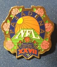 PASADENA ~ SUPER BOWL XXVII Souvenir Lapel Pin NFL Football