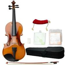 New 1/2 Solid Wood Coffee Color Violin+Case+Bow+Rosin+Shoulder Rest+String+Tuner