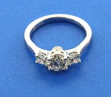 18k WHITE GOLD HEARTS ON FIRE DIAMOND RING PRELUDE #HOF00250 (TCW) 1.26CT SIZE 4