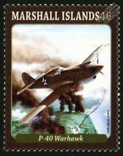 CURTISS P-40 WARHAWK WWII Fighter Aircraft Mint Stamp (2013)